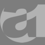 "airbusch1 logo with lowercase ""a"" and the numeral ""1"" intermeshed inside square."